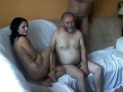 18y Teen fucked by 5 Old Folks