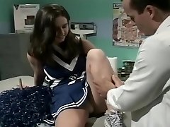 Cheerleader Jessica Poked By Doctor
