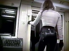 Riding the subway in spandex