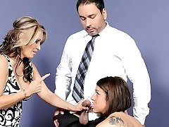 Selena Skye, Sasha Sky in Mothers Training Daughters-in-law How To Blow Cock #03, Scene #03