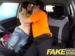 Faux Driving School hot Italian learner with bicurious...