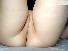 Small cock-squeezing wet shaved cubby cameltoe pussy being frigged