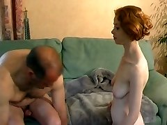 Youthful French redhead learns how to plow
