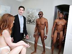 Pepper Hart Bi-racial Anal Gang-fuck - Cuckold Sessions