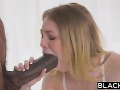 BLACKED Petite blond with the fattest bbc in the world