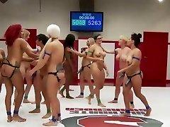 Ultimate Lésbicas Wrestling Gangbang