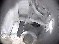 Spying my gf masturbating in toilet