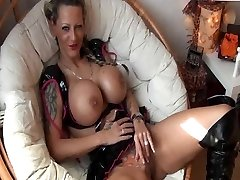 Tattooed German Girl with massive Tits gets fucked