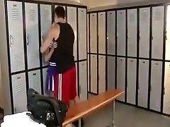 Sharp cheerleader fucked in the locker apartment