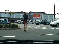 public cock flashes from tranny exhibitionist breezy