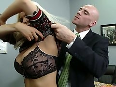 Naughty teacher Diamond Foxxx is disciplined by school principle