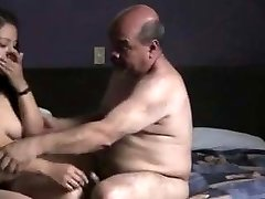 Indian prostitude doll fucked by oldman in motel room.