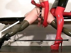My slave female dom flick - Milking my rubber slut