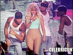 Ebony Celeb Nicki Minaj Unsheathed Juicy Tits And Money-shot Selfie