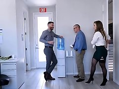 TeamSkeet - Busty and Hairy Office Babe Nailed By Colleague