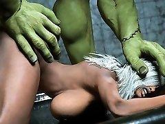 3D Nurse Plowed by Frankenstein!