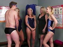 Guy joins the swim team