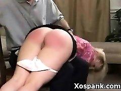 Punishment Lovin' Chick In Alluring Spanking Girl
