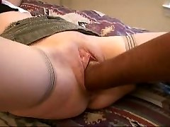 Slutty wife   with knuckle, cock and cucumber