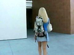 Blonde student nailed hard