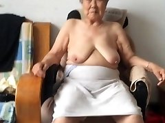 Chinese 80+ Granny After bath