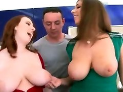 Giant Natural Boobs - Redhead And Brunette!!!!!!!