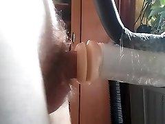 Guy fucks rubber cunt