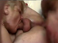 French mature bi-couple fucked firm by a french porn actor