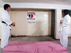 Super Hot Asian dojo work out