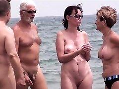 Awesome Naturist Group Voyeur Beach Amateurs Video Part 1
