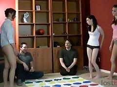 Hot amateurs playing undress twister