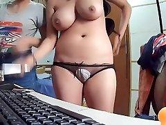 Snooping the sister through a web camera