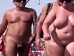 French nudist beach Cap d'Agde people walking naked 03