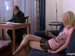 My young blonde wife rails another cock