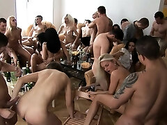 Huge Tits Blonde Cum Covered at Home Party