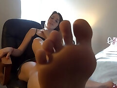 Claire puts her soles on your face
