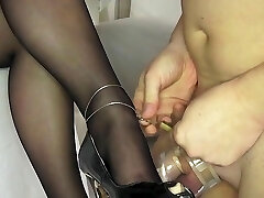 Virginity and cum on High Heels