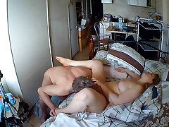 Meaty Tit Russian MILF multi-orgasm being licked out.