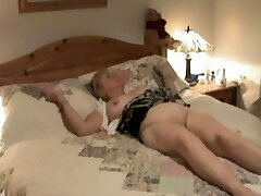 Covert camera shows mature treated to oral sex.