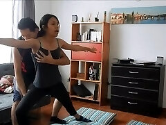 Yoga instructor gets fucked by hot college girl