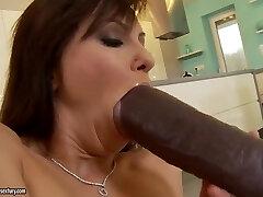 Alysa Gap is having a very horny mood today and fucking with ebony dude