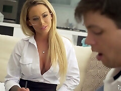 Sophomore college girl has the honor to fuck killing super hot teacher Isabelle Deltore