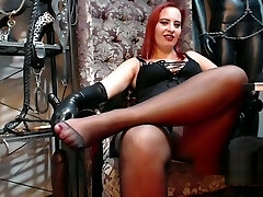 Mistress nylon soles