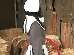 Amish किसान annalizes एक काले नौकरानी