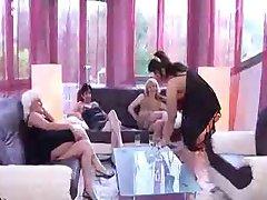 Mature russian lesbian foursome