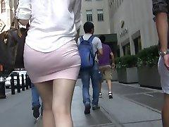 Short Pink Shirt n Panty Lines