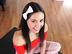 Flexible amateur adolescente coño doggystyled