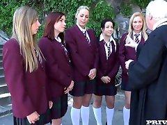 Lindsey Olsen, Taissia Threesome Schoolgirls