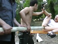 Blondie gets a huge pole up her ass