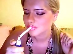 Smoking blonde webcam